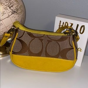 Yellow coach crossbody